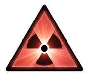 火光轻的放射性符号警告 免版税库存图片