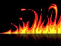 火反射代表被反映的燃烧和发怒 向量例证