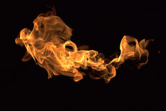 火发火焰汇集 库存照片