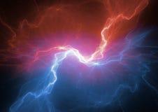 火和冰等离子闪电 库存例证