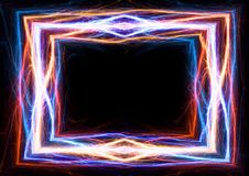 火和冰闪电和电子框架 免版税库存照片