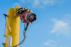 火和处理平台的油和煤气气体信号装置和停工侦测  免版税库存照片