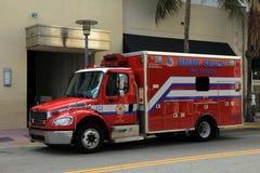 火和抢救救护车 库存图片