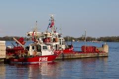火和救助艇多伦多 免版税库存图片