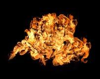 火和火焰有灼烧的黑暗的-红色-橙色背景 火和火焰 免版税库存照片