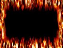 火和火焰框架  免版税库存照片