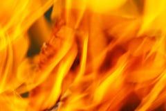 火和火焰黄色红色背景  库存图片