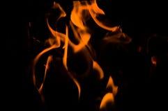火和火焰 库存照片