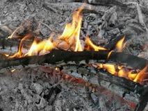 火和灰 免版税库存照片