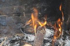 火和灰 免版税图库摄影