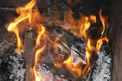 火和灰 免版税库存图片