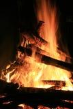 火和炭烬 库存照片