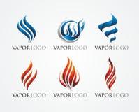 火和蒸气商标设计 免版税库存图片