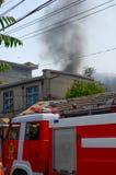 火在中午发生了 免版税库存图片