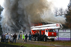 火在城市 免版税图库摄影