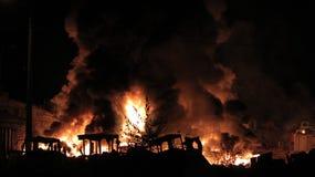 火在基辅 库存图片