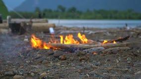 火在山湖的岸烧 股票录像