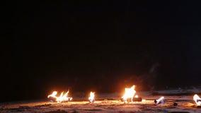 火在沙子的爱好者谎言 股票录像