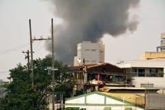 火在马尼拉 免版税库存照片