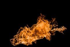 火在黑背景中 库存照片