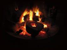 火地方在Austerlitz 图库摄影