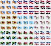 火地群岛省, Los女低音,叙利亚,津巴布韦,圣卢西亚,英属南极领地,坦桑尼亚,威尔士,马里埃尔共和国 大集 库存照片
