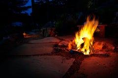 火坑夏天 免版税图库摄影