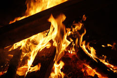火坑 库存照片