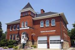 火大厅有历史的独立岗位 库存图片