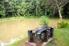 火安排河沿 免版税图库摄影