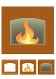 火安排门户 库存图片