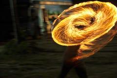 火展示火展示桔子火焰 库存图片