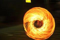 火展示火展示桔子火焰 库存照片