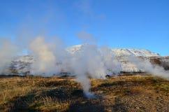 火山冰岛的横向 库存图片