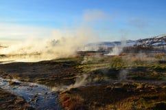 火山冰岛的横向 库存照片