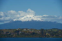 火山卡尔布科火山- Puerto Varas -智利 免版税库存照片