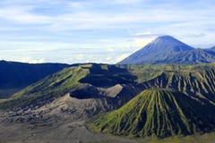 火山口、登上Bromo和登上Semeru 免版税库存图片