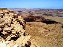 火山口以色列makhtesh ramon 免版税库存照片