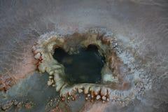 火山口喷泉 免版税库存照片