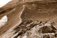 火山口地质横向 免版税图库摄影