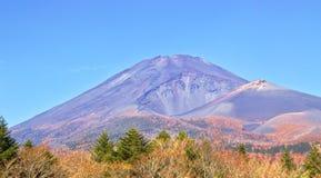 火山口富士hoei日本zan挂接的视图 图库摄影