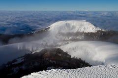 火山口山顶 库存图片