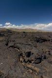火山口月亮 图库摄影