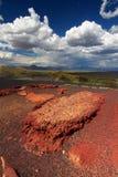火山口横向月亮 免版税库存图片