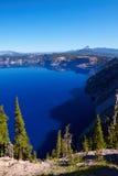 2008年火山口湖俄勒冈美国 图库摄影