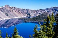 火山口湖俄勒冈 库存图片