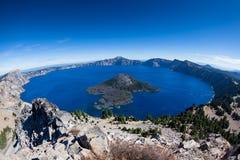 火山口湖国家俄勒冈公园 库存图片