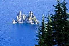 火山口湖国家公园美国 库存图片