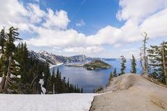 火山口湖国家公园风景 库存图片