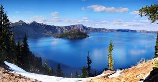 火山口湖国家公园,俄勒冈美国 库存照片